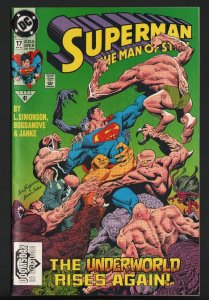 SUPERMAN THE MAN OF STEEL #17-FIRST DOOMSDAY CAMEO-DC-NM-HIGH GRADE!