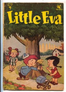 Little Eva #17 1955-St John-Unique cover looks like animation cel laid over a...