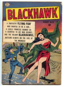 Blackhawk Comics #32 1950- Golden Age- Flying Fish Men VG