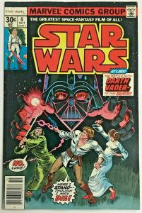 STAR WARS#4 FN/VF 1977 MARVEL BRONZE AGE COMICS