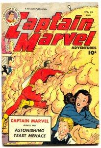 Captain Marvel Adventures #75 1947- YEAST MENACE FN-