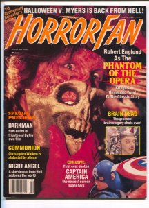 Horror Fan #4 1989-Darkman-Sam Rami-Night Angel-Claude Rains-Brinke Stevens-F...