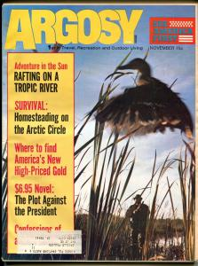 Argosy 11/1972-Popular-Plot Against President-exploitation-pulp fiction-VG