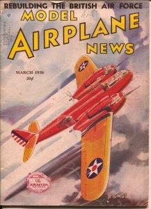 Model Airplane News 3/1938-Hurricane Hell Fighter cover-Josef Kotula-VG+