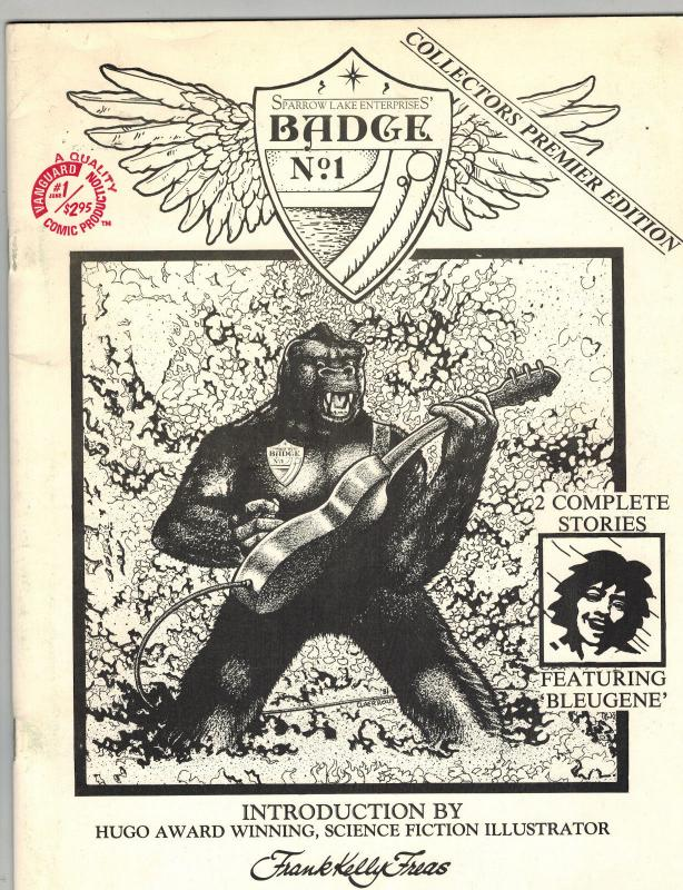 Sparrow Lake Enterprises' Badge No. 1 #1 Vanguard Fall 1981 Frank Kelly Freas