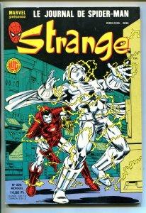 STRANGE #226-1987-MARVEL-SPIDER-MAN-IRONMAN-CAPT AMERICA-FRENCH EDITION-vf