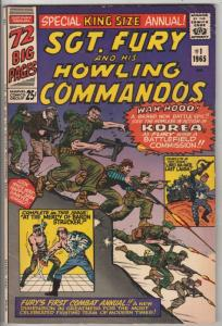 Sgt. Fury and His Howling Commandos King-Size #1 (Jan-65) FN/VF Mid-High-Grad...