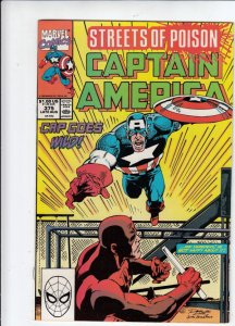Captain America #375 (Aug-90) NM Super-High-Grade Captain America