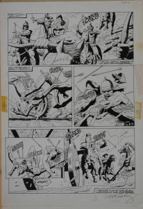 PAUL GULACY original art, pg 10, Agrosseans battle, Bow deaths, Signed