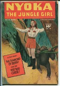 NYOKA THE JUNGLE GIRL #39 1950-FAWCETT-GOOD GIRL ART-BOUND BABE-fn minus