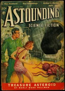 Astounding Science- Fiction Pulp September 1938- L Ron Hubbard VG