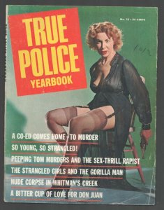 True Police Yearbook #15 1965-Gun Moll in lingerie-stockings-garters photo co...