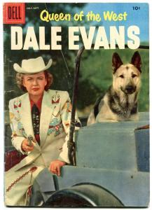 Queen of The West Dale Evans #12 1956- German Shepherd cover VG