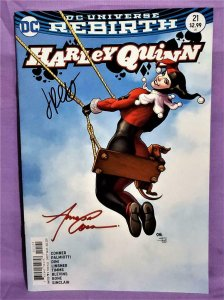 Amanda Conner DC Rebirth HARLEY QUINN #21 Frank Cho Variant Signed (DC, 2017)!