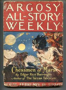 Argosy All-Story Weekly Pulp February 18 1922- Chessman of Mars-ERB