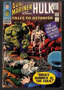 Tales To Astonish #77 GD+ 2.5 Sub-Mariner and the Hulk!
