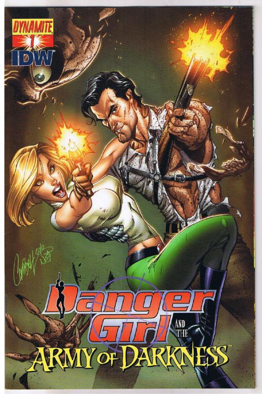 DANGER GIRL and the ARMY of DARKNESS #1 A, NM, Campbell,2011, more AOD in store