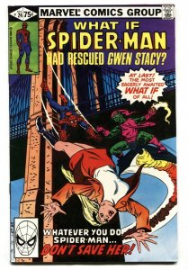 What If #24 comic book Spider-Man rescued GWEN STACY-comic book