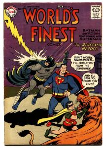 World's Finest #87 1957-DC-Superman-Batman-Green Arrow-Tomahawk