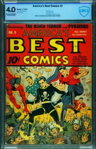 America's Best Comics #5 CBCS 4.0 1943- Schomburg- Black Terror-WWII NAZI CVR