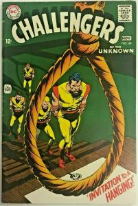 CHALLENGERS OF THE UNKNOWN#64 FN/VF 1968 CLASSIC COVER DC SILVER AGE COMICS