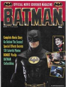 Batman Official Souvenir Magazine VG 1989 movie Keaton Nicholson