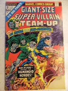 SUPER-VILLAIN TEAM-UP GIANT-SIZE # 2 PIECE OFF BOTTOM CORNER SOLID OTHERWISE