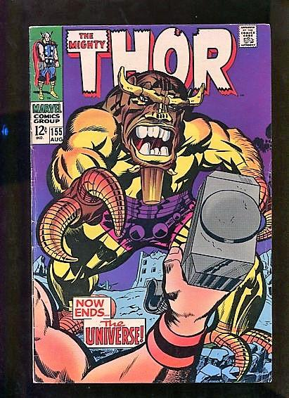 THOR #155  (1967)  6.5  (F+) OW/W PAGES SOLID BOOK