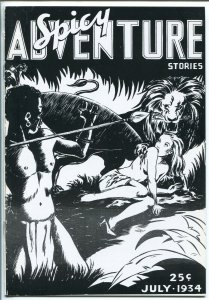 SPICY ADVENTURE STORIES-#1-07/1934-TROJAN-1ST ISSUE FACSIMILE REPRINT-PULP-vf