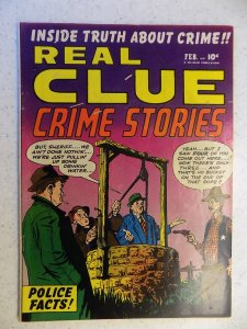 REAL CLUE CRIME STORIES VOL 5 # 12 HILLMAN SCARCE DETECTIVE PRE CODE 1951