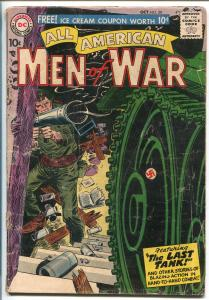 ALL-AMERICAN MEN OF WAR #50-1957-WWII-DC-SILVER AGE-THE LAST TANK-good