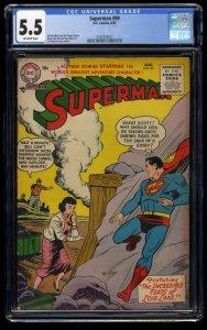 Superman #99 CGC FN- 5.5 Off White 1st Midnite Gang!