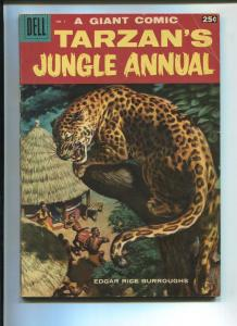 TARZAN'S JUNGLE ANNUAL #7 1958-DELL-EDGAR RICE BURROUGHS-VG+