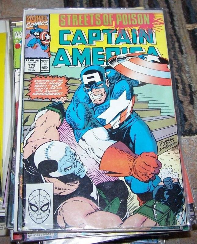 Captain America comic # 378 (Oct 1990, Marvel) crossbones streets of poison pt 7