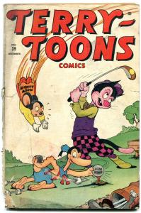 Terry-Toons Comics #39-2nd Mighty Mouse- Atomic Golf cover- Rare Funny Animal