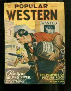 POPULAR WESTERN PULP-1949-FEBRUARY-LOUIS L'AMOUR-TUTTLE VG