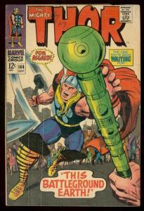 THOR #144 1967 MARVEL COMICS JACK KIRBY ART ASGARD 12C G/VG
