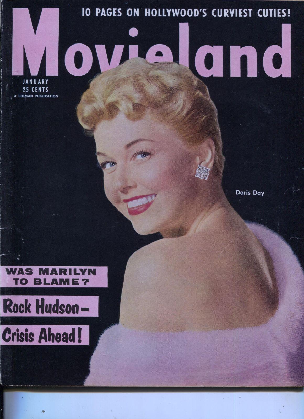 Movie Life Doris Day Marilyn Monroe Judy Garland Audrey Hepburn Jan 1955 Hipcomic