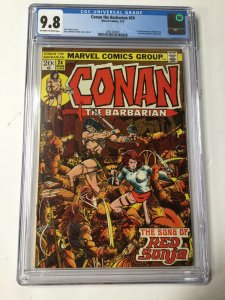 Conan The Barbarian 24 Cgc 9.8 Ow/w Pages Great Centering! Marvel