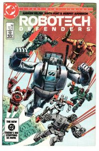 Robotech Defenders #1 1985 DC comic book First issue Macross