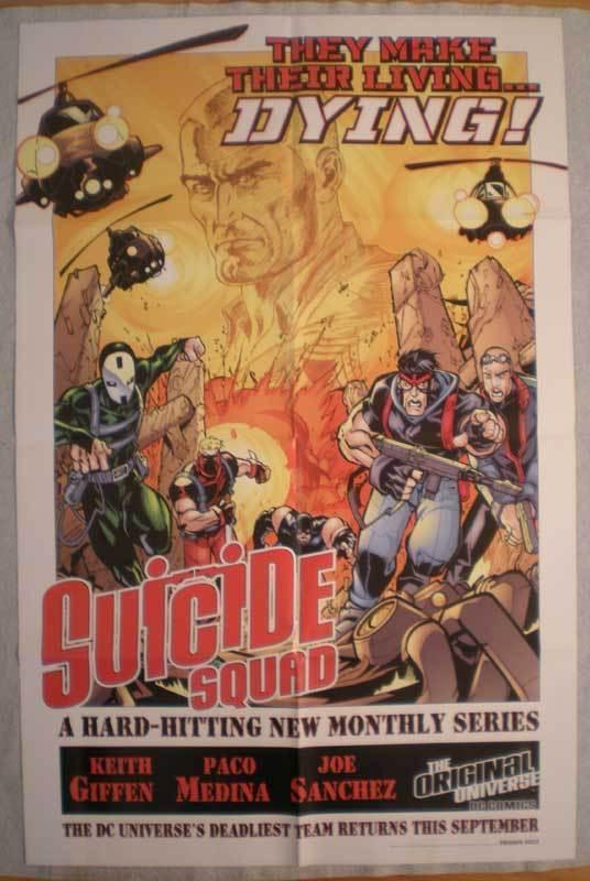 SUICIDE SQUAD Promo poster, 22 x 34, 2001, Unused, more in our store
