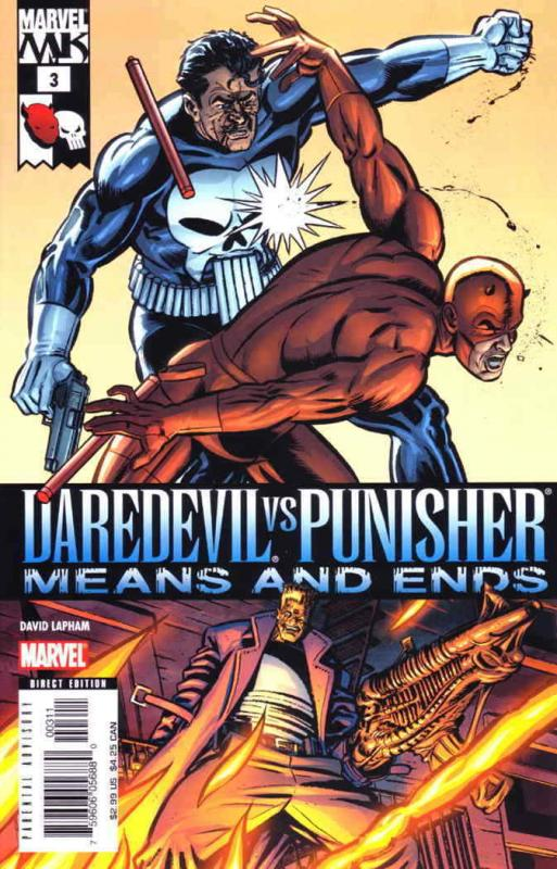 Daredevil vs. Punisher: Means and Ends #3 VF/NM; Marvel | save on shipping - det