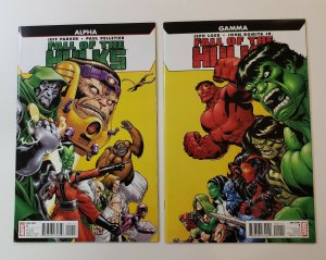 FALL OF THE HULKS TWO ONE-SHOTS ALPHA AND GAMMA MARVEL COMICS 2010 NM