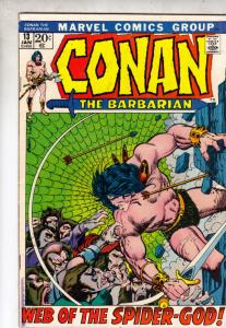 Conan the Barbarian #13 (Jan-72) VF+ High-Grade Conan the Barbarian
