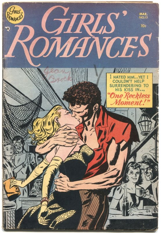 GIRLS' ROMANCES #13-1952-ALEX TOTH COVER-NICE INTERIOR ART-RARE DC