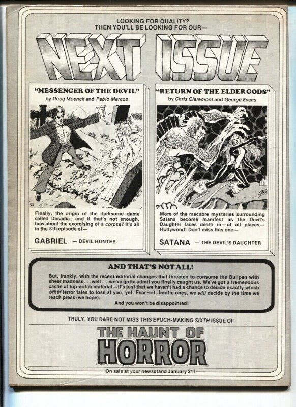 Haunt Of Horror #5 1975-Dick Giordano cover.-Marvel-Satana