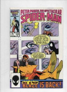 Peter Parker SPECTACULAR SPIDER-MAN #123 VF/NM, Blaze 1976 1987 more in store
