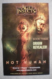 AGE OF INSECTS NOT HUMAN Promo Poster, 2008, Unused, more in our store