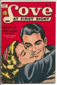 Love At First Sight #13 1952-Ace-spicy art-headlights-lingerie-elusive issue-VF-