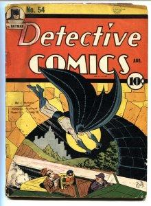 DETECTIVE COMICS #54-Batman-Crimson Avenger-1941-DC Golden Age Comic